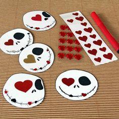 Do it yourself Jack Skellington Valentines