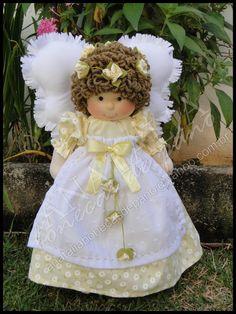 Anjo Menina 30 cm. Pode ser feita com outras estampas