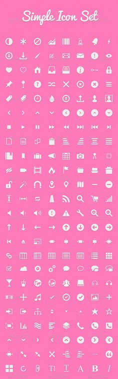 Simple Icon Set  #GraphicRiver         Set of Blog Icons that you can use on your next Blog/Web/App design project.   The file contains icons in the following categories:- Media – Post types – Admin – Social Sharing – Contact – Comments – Alerts – Search – Location   All icons are fully editable vector files and come in an PSD format.                     Created: 30 November 13                    Graphics Files Included:   Photoshop PSD                   High Resolution:   Yes…
