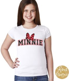Minnie With Bow  Disney Glitter Shirt by ShineDesignsTees on Etsy