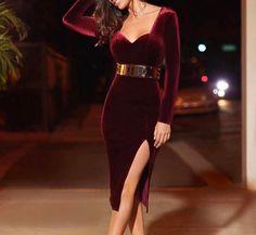 Vestido para noche buena Chic Outfits, Dress Outfits, Fashion Dresses, Sexy Evening Dress, Evening Dresses, Lovely Dresses, Elegant Dresses, Short Dresses, Girls Dresses