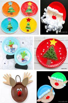 Manualidades de Navidad con platos desechables para hacer con niños 25 Days Of Christmas, Christmas Makes, Homemade Christmas, Family Christmas, Vintage Christmas, Christmas Crafts, Christmas Decorations, Craft Box, Toy Craft
