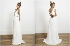 Rime Arodaky dress, unusual back wedding dress