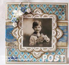 Anja Zom card blog Shabby Chic Cards, Marianne Design, Scrapbook, Van, Vintage, Modern, Blog, Carton Box, Vans