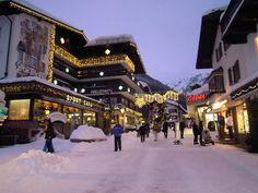 St. Anton, Austria downtown