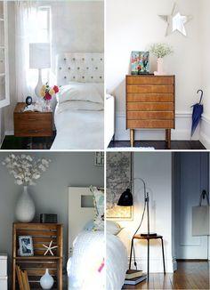 Crate Bedside Table Idea
