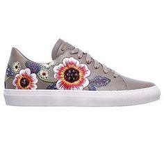 Skechers Women's Vaso Flor Memory Foam Sneakers (Taupe)