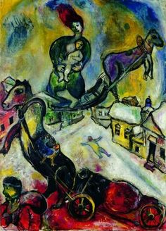 Marc Chagall - The War - 1943 - Musée National d'Art Moderne, Paris Marc Chagall, Pablo Picasso, Chagall Paintings, Jewish Museum, Fauvism, Jewish Art, French Artists, Art Forms, Les Oeuvres