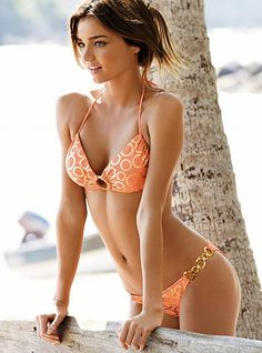 6911a60923 Sex Swimsuit 2013 Push Up Metallic Ring Set In Orange Miranda Kerr Workout