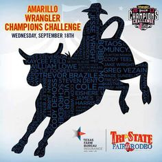 Want to see all of your favorite rodeo athletes at the #TriStateFair? Join us Wednesday, September 18th for the Amarillo Wrangler Champions Challenge!