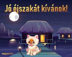 Jó éjszakát kívánok!  #éjszaka Share Pictures, Animated Gifs, Good Morning Good Night, Sweet Dreams, Disney, Funny, Movie Posters, Smile, Album