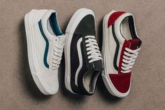 Trendy Women's Shoes 2017 - Vans Vault 'Suede / Canvas' Old Skool Collection - EU Kicks: Sneaker Magaz . Sneakers Mode, Vans Sneakers, Sneakers Fashion, Fashion Shoes, Mens Fashion, Mens Vans Shoes, Converse, Vans Men, Sock Shoes