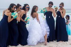 The Bride & Her Bridesmaids - oooh La LA!  14 Avenida 500, Pensacola Beach, Florida www.CoastalSoirees.com