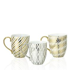 """Make a statement with every sip when you use the festive mug.FEATURES• 5"""" diameter x 4.25"""" heightMATERIALS• CeramicCAREHand wash only.Made in China"""