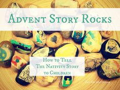 Advent Nativity Story Rocks from The Golden Gleam
