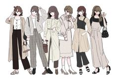 Cute Art Styles, Cartoon Art Styles, Fashion Design Drawings, Fashion Sketches, Character Outfits, Cute Anime Character, Cute Fashion, Fashion Art, Anime Outfits
