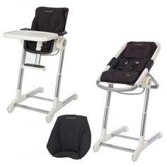 (CADEAU DÉJÀ REÇU) Combiné transat-chaise haute, Concept Keyo Complet, Total Black (noir), BÉBÉ CONFORT, 384 euros sur http://www.bebe9.com/concept-keyo-complet.html  (CADEAU DÉJÀ REÇU)