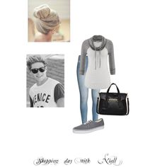 Shopping date with Niall by kaylee-schroeder on Polyvore featuring polyvore, fashion, style, maurices, H&M, Vans and Danielle Nicole