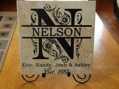 Great vinyl family tile... anniversary gift?