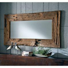Reclaimed wood mirror.
