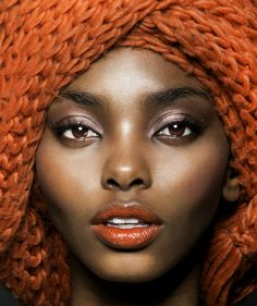 The beautiful model Adaora Akubilo. I love love love the makeup here.
