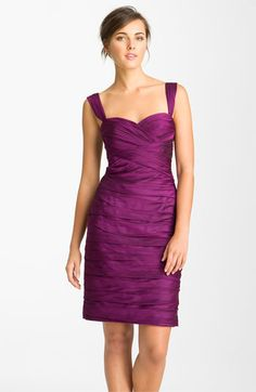 ML Monique Lhuillier Bridesmaids Pleated Sweetheart Chiffon Dress (Nordstrom Exclusive) in Berry, available at Nordstrom Sarah Seven Wedding Dresses, Fall Wedding Dresses, Wedding Bridesmaid Dresses, Formal Dresses, Monique Lhuillier Bridesmaids, Plus Size Cocktail Dresses, Before Wedding, Fashion Moda, Purple Wedding