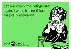 Let me check the refrigerator again, I want to see if food magically appeared.