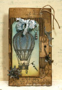 steampunk hot air balloon scrapbook