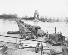 Pontoon Bridge at Worms - named for Alexander Patch - commander of Seventh Army