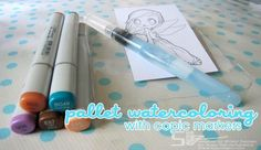 Water Coloring with Copics Tutorial