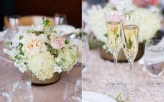 Gorgeous florals for a lovely table setting! Photography by Jonathan Young | http://www.jyweddings.com/ | Thomas Fogarty Winery
