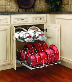 Rev-A-Shelf Pull-Out 2-Tier Base Cabinet Cookware Organizer