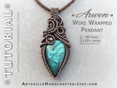 Ring Tutorial, Necklace Tutorial, Wire Pendant, Wire Wrapped Pendant, Owl Pendant, Butterfly Pendant, Pendant Necklace, Wire Weaving Tutorial, Wire Jewelry Patterns