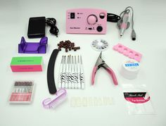 Professional Electric acrylic nail drill file machine kit with 10 valuable gift #Unbranded