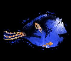 """Finding Dory T-Shirt by Steven Lefcourt. """"Blue Tang Reef"""" is a beautiful t-shirt for fans of Finding Nemo and Finding Dory. Disney Style, Disney Love, Disney Art, Disney And Dreamworks, Disney Pixar, Walt Disney, Blue Tang, Walter Elias Disney, Mermaid Under The Sea"""