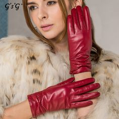 cc375ca4ad23a Find More Gloves & Mittens Information about GSG winter basic ladies  genuine leather gloves lamb