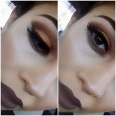 Lip color is nyx lip liner in espresso and nyx matte lipstick in honey Nyx Makeup, Kiss Makeup, Love Makeup, Prom Makeup, Makeup Goals, Makeup Tips, Beauty Makeup, Hair Beauty, Nyx Lip Liner