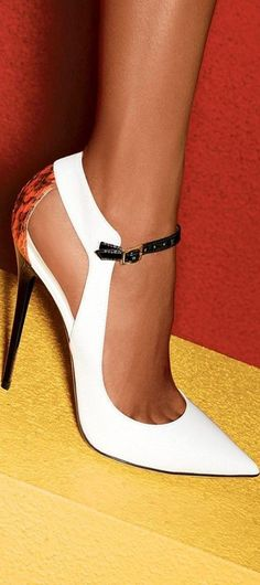 Jimmy Choo ~ 50 Ultra Trendy Designer Shoes For 2014 - Style Estate - white pumps Hot Shoes, Crazy Shoes, Me Too Shoes, Lace Shoes, Strappy Shoes, Suede Pumps, Pump Shoes, Jimmy Choo, Jimmy Jimmy