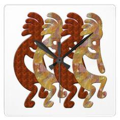 kokopelli clock | Kokopelli Southwestern Clock