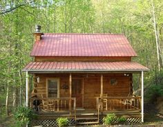 Sizzling red roof cabin. | 28 Images For People Who Are Into Log Cabin Porn