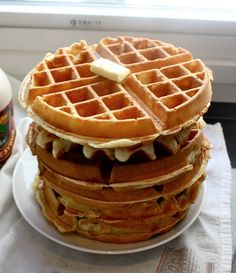 "Belgian Waffles--this blogger has tested the best waffle recipes on the internet, and finally found ""the one."""