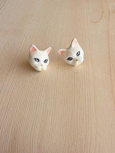 Plub Cat Earrings. by GOODAFTERNINE on Etsy