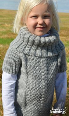 Looking for a knitted sweater pattern for little girls! My newest, Little Miss Abigail's Sweater, is a fun knit. A knit sweater that is knit in the round and is seamless, the turtle neck is a fun addition! This sweater can be knit with long sleeves or short sleeves. The cable designed in the sweater runs down the round, with the moss stitch surrounding. Click through to get the pattern from KnotEnufKnitting on Etsy.