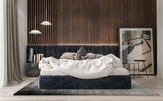 Artdeco apartment Kiev on Behance Home Interior, Luxury Interior, Interior Design, Home Room Design, Bed Design, Contemporary Bedroom, Modern Bedroom, Bedroom Sets, Bedroom Decor