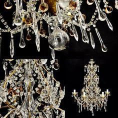 Midcentury Florentine chandelier