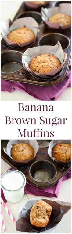 Banana Brown Sugar Muffins! They only take 20 minutes!