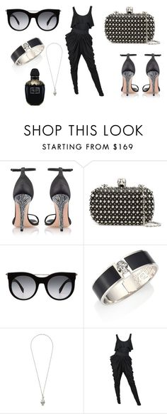 """All balck w/ Alexander Mcqueen"" by mynameisblrryface ❤ liked on Polyvore featuring Alexander McQueen"