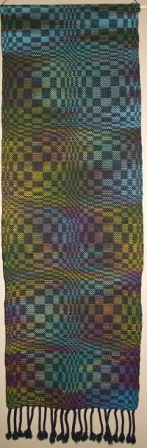 The movement and flow of this Finished piece is just Wonderful!!  From weaver Elizabeth Mather's gallery