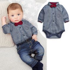 Free shipping baby bebes boys clothes set Romper + pants boy girl clothing infant Autumn Spring children suits Like and share! Visit us