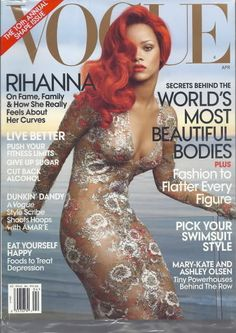 Rihanna Vogue Apr 2011 Mary-Kate Ashley Olsen Amar'e Foods to Treat Depression